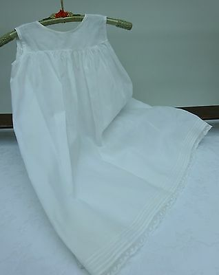 Lace Baby Petticoat Girls Toddler Dolls Embroidered White Early 1900's Antique