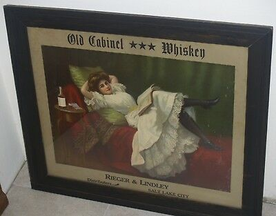 Extremely rare one of a kind Whiskey advertising sign from Salt Lake City, Utah