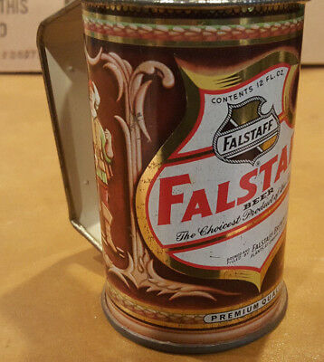 Vintage Falstaff Beer Cans Mug Cup with Tin Handle Old School St. Louis, MO