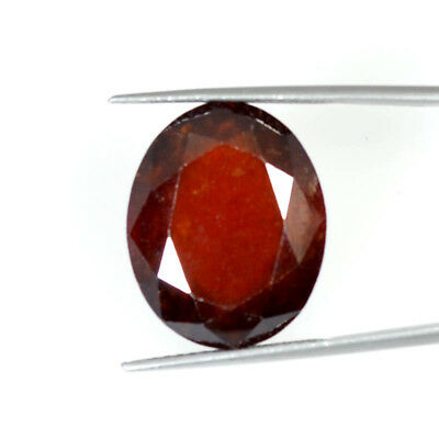 25.09 Cts NATURAL RED HESSONITE GARNET OVAL CUT LOOSE GEMSTONE 70-36