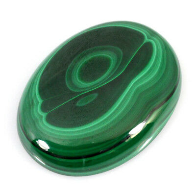 170.00Cts NATURAL GREEN PATTERN MALACHITE OVAL CABOCHON LOOSE GEMSTONES 59-04