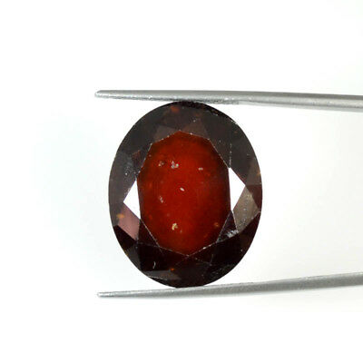 32.27 Cts NATURAL RED QUALITY HESSONITE GARNET OVAL CUT GEMSTONE 69-60
