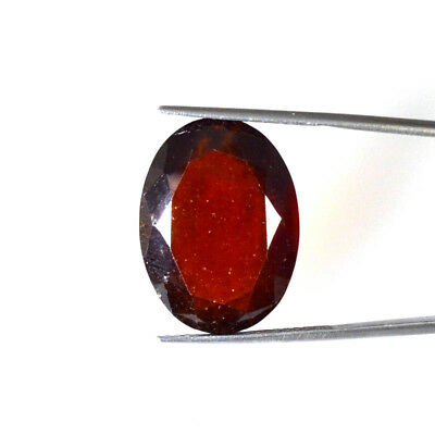 29.38Cts NATURAL RED HESSONITE GARNET OVAL CUT LOOSE GEMSTONES 65-18