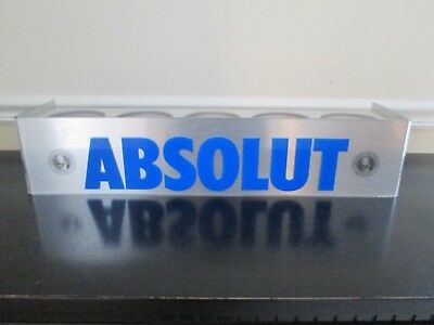 Absolut Vodka Acrylic Display Stand Advertising Holds 5 Bottles Barware Bar