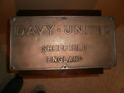 Old Sheffield Factory Collectable Brass Plaque
