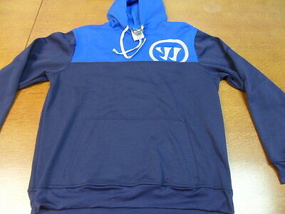 Blue Warrior Lacrosse Hoodie Sweatshirt Large L