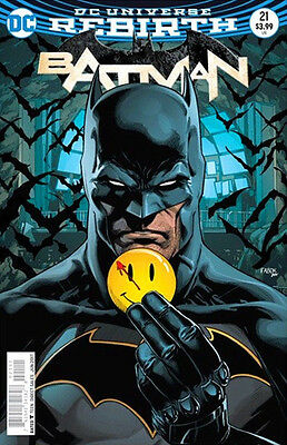 BATMAN #21 (THE BUTTON) 3D LENTICULAR VARIANT DC REBIRTH 1st Print US EXCLUSIVE