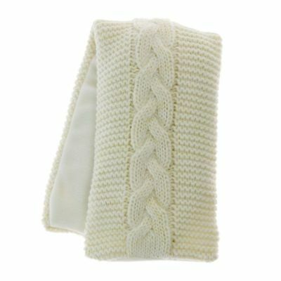 Aroma Home Cream HIghland Cable Knit Lavender Scented Microwavable Body Wrap