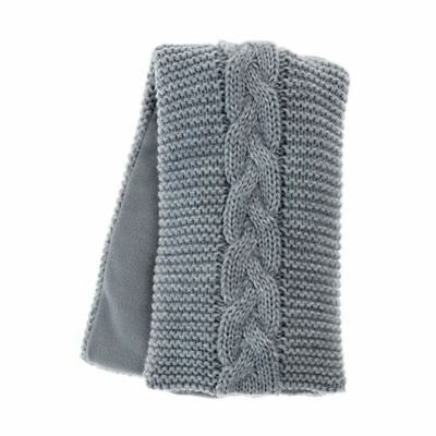 Aroma Home Grey HIghland Cable Knit Lavender Scented Microwavable Body Wrap