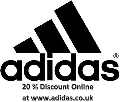 Adidas 20% Voucher Code/Discount Code Works at ADIDAS Online Store/Website Only