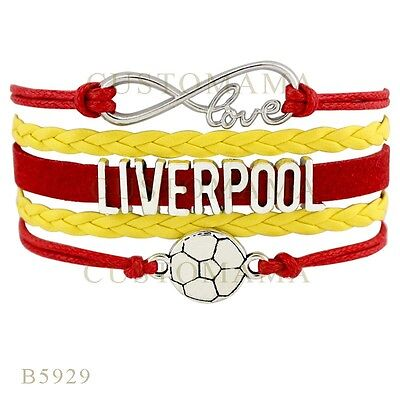 liverpool woven cord and velvet bracelet red and yellow brand new with tags