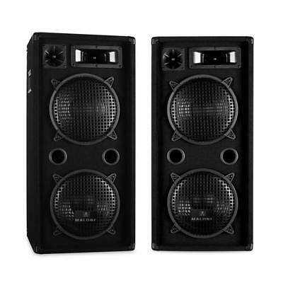 """Malone Hifi Pa Speaker Pair 10"""" 900W Rms Stage Concert Disco Sound Equipment"""