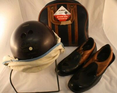 Columbia 300 12lb Custom Bowling Ball with Shoes (Size 8/9), Bag and Carry Bag