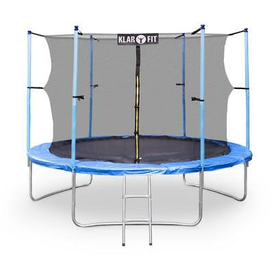 Klarfit Rocket Boy Xxl 10Ft Trampoline Includes Safety Net & Ladder Outdoor Fun