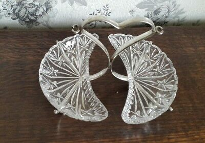 A Vintage Silver Plated and Cut Glass Serving Dish