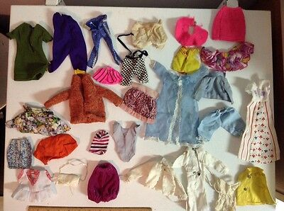 large lot of vintage 1960's 70's Barbie doll clothes furniture toys