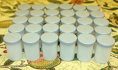 30 x 35mm Kodak Film Canisters Pots Tubs with Gray Lids - Geocaching, Loom Bandz
