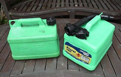 2 x Used Plastic 5 litre Petrol Cans VGC