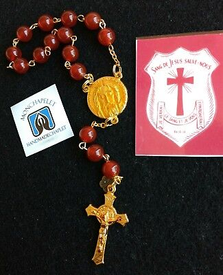 Chaplet of the Most Precious Blood in gold plated wire express version with pin