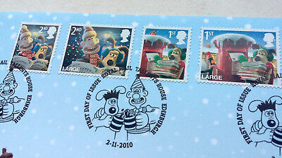 Royal Mail 2010 Christmas Wallace and Gromit Christmas Stamps First Day Cover