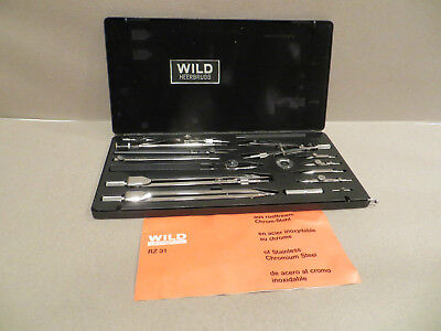 Vintage Wild Heerbrugg Precision Drawing Set RZ 31 Swiss made