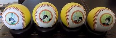 Beatles Baseball Set Of 4, New With Stands