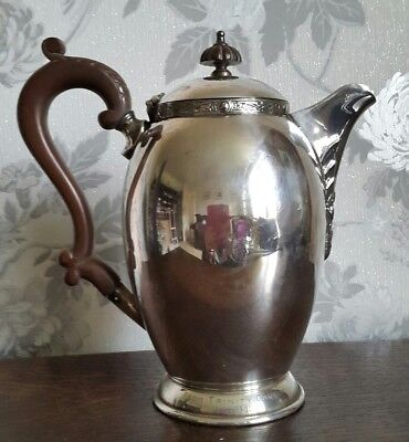A Beautiful Vintage Silver Plated Hot Water Pot