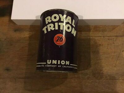Royal Triton 76 Motor Oil Metal Can 1quart