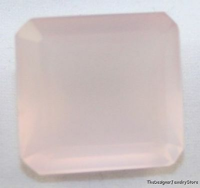 Natural Rose Quartz Loose Gemstone 16X17 Octagon Faceted Loose Gem 21Ct Qu3