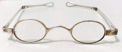 1800s Antique Solid Silver Spectacles Antique Eyeglasses  English Hallmarks