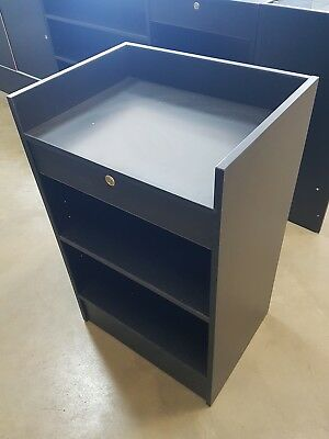 Black cash register counter with drawer, brand new. 610 x 460 x 970