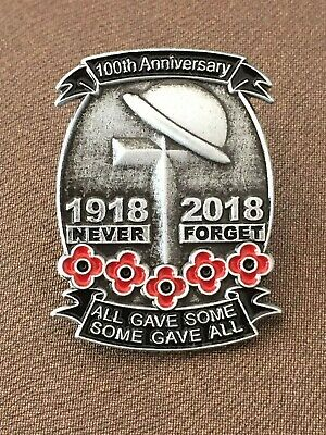 Fast Delivery 2017 World War Memory Veterans Red Poppy Enamel Pin Badge Brooch