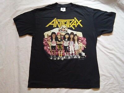 Anthrax T-shirt State of Euphoria Vintage 1988 Tee jays Large 1988 Brockum used