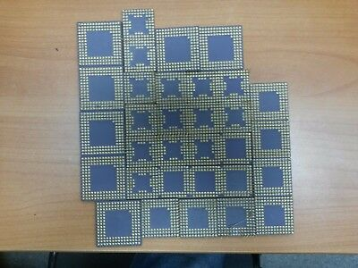 32 Vintage ceramic CPU chips for collection gold scrap