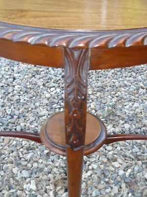 Antique Victorian Mahogany Round Table, With Tray Below