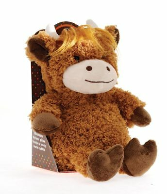 Aroma Home Cozy Hottie Soft Lavender Fragranced Microwavable Highland Cow Toy