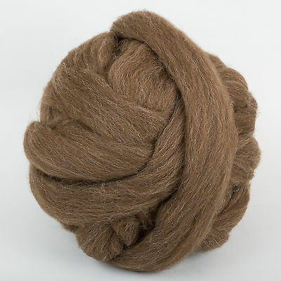 100g*Moorit*PROFESSIONALLY COMBED SHETLAND FLEECE*Scottish.wool.tops.roving.pure