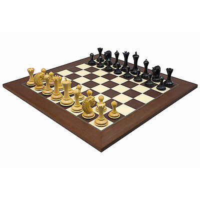 The Large Empire Knight Ebony Palisander Luxury Chess Set RCPB311