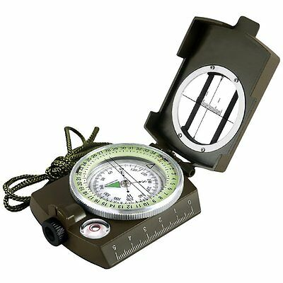 Outdoor Multifunctional Military Army Metal Sighting Compass With Waterproof