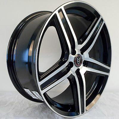 """18"""" Wolfrace Us Black Polished Alloy Wheels 5X120 To Fit Bmw 3 Series & Saab 9-5"""