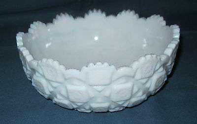 """Westmoreland OLD QUILT WHITE *7 1/2"""" BOWL*OQ 28*"""