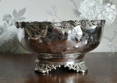 A Vintage Silver Plated Punch Bowl