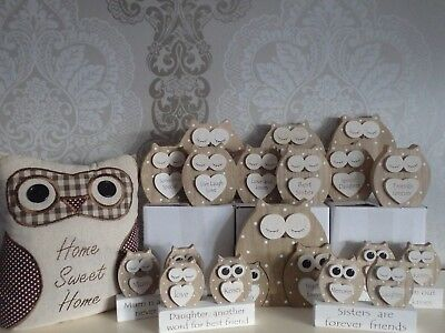 DREAMY OWL TABLE PLAQUES FOR NAN FRIEND SISTER MUM DAUGHTER