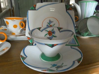 An Amazing Shelley Art Deco Trio Absolutely Stunning And Rare