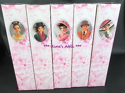 Complete Set of 5 ~ MY FAIR LADY Barbie Doll HOLLYWOOD LEGENDS Collection