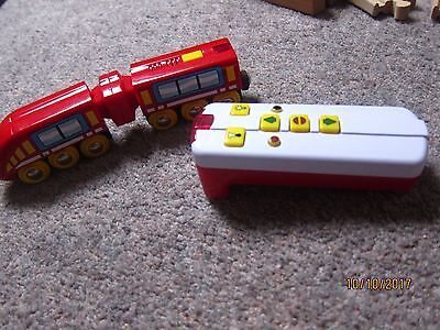 BRIO battery train and remote for wooden track