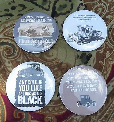 Lot of eight (8) Ford Model T Buttons Henry Ford Quote Memorabilia