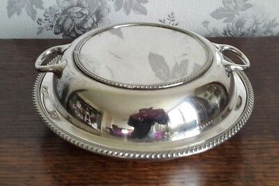 A Vintage Silver Plated Entrée Dish by Graham and Morton Stirling