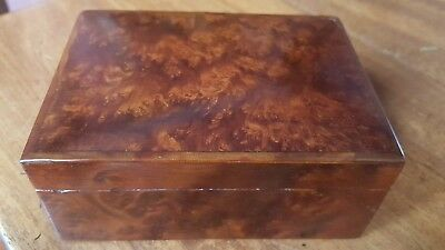 Vintage Burr Walnut Trinket Box.