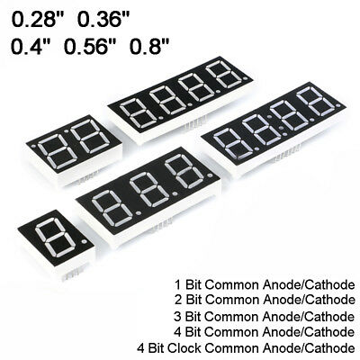 "0.28/0.36/0.4/0.56/0.8"" Red led Display 7 Segment Common Cathode/Anode 1-4 Digit"